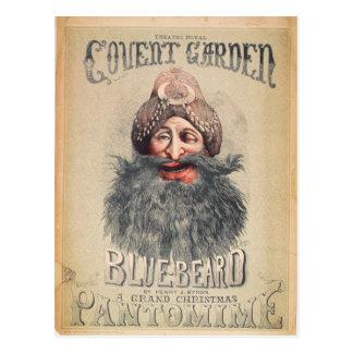 Plakat für eine Weihnachtspantomime Postkarte