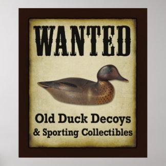 PLAKAT: Gewollt - Enten-Lockvögel Poster