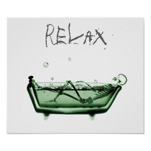 Plakat-Grün entspannen sich Röntgenstrahl-Skeleton
