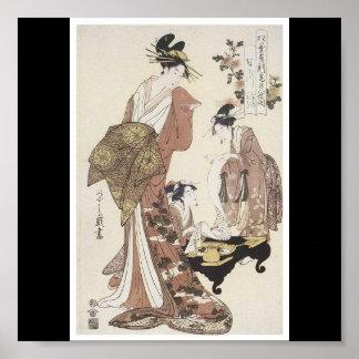 Plakat japanischen malenden C. 1795