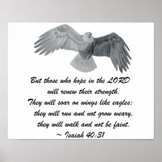 Plakat - Jesaja-40:31 Eagle