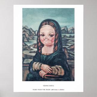 """Plakat """"junger Mona"""" durch Geschichten vom Abfall"""