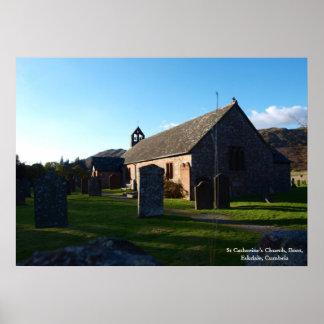 Plakat - Kirche St Catherine Stiefel Eskdale