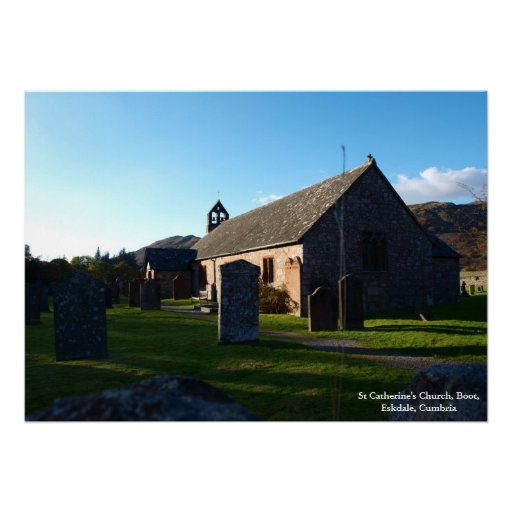 Plakat - Kirche St. Catherine, Stiefel, Eskdale
