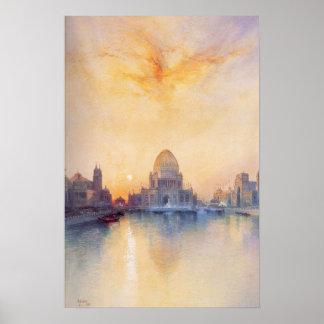 Plakat mit Chicago-Weltausstellung-Malerei von 189