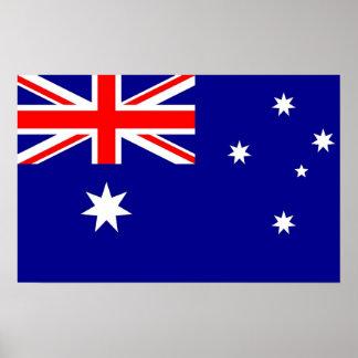 Plakat mit Flagge von Australien