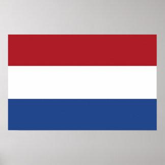 Plakat mit Flagge von den Niederlanden