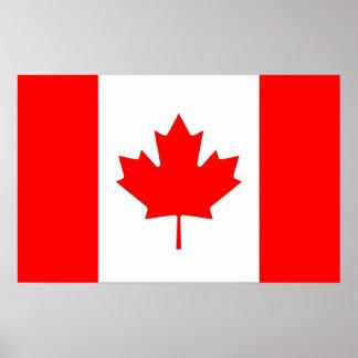 Plakat mit Flagge von Kanada
