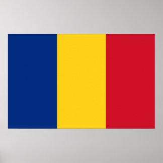 Plakat mit Flagge von Rumänien