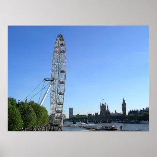 Plakat mit London-Augen-Riesenrad