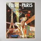 Plakat mit Paris-Kunst-Deko-Druck von den zwanzige