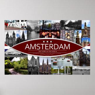 Plakat mit Szenen von Amsterdam