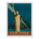Plakat mit Vintagem New- Yorkplakat-Druck