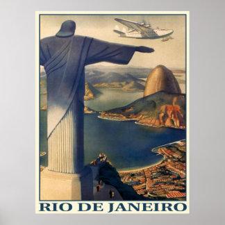 Plakat mit Vintagem Rio- de Janeirodruck