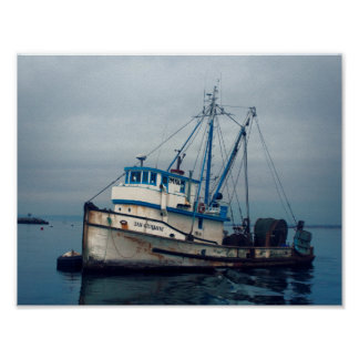 Plakat - Monterey-Bucht-Fischerboot San Giovanni