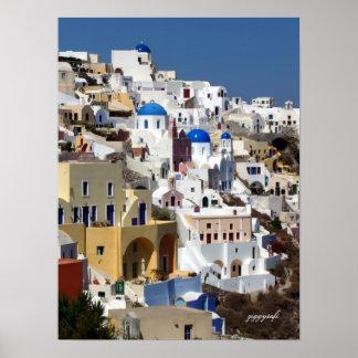 Plakat Oia, Griechenland