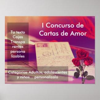 Plakat Personalizable Concurso Chartas der Liebe