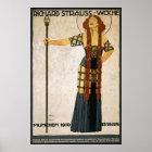 Plakat Richard Strausss Woche 1910 Neuauflagen-6 x