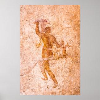 Plakat - römisches Fresko, altes Pompeji, Italien