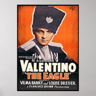 Plakat Rudolphs Valentino für 'das Eagle