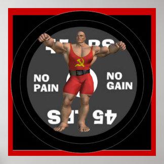 Plakat Russlands Powerlifter