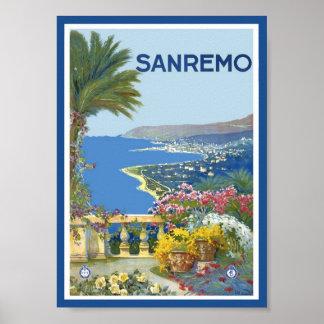 Plakat San Remo Italien
