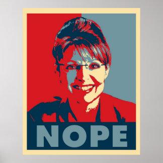 """Plakat Sarahs Palin """"NOPE"""""""
