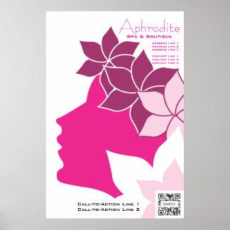 Plakat-Schablonen-Aphrodite-Wellness-Center u. Poster