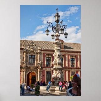Plakat Sevillas, Spanien