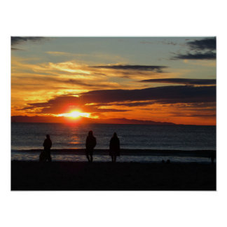 Plakat: Sonnenuntergang auf Ventura-Strand im Poster