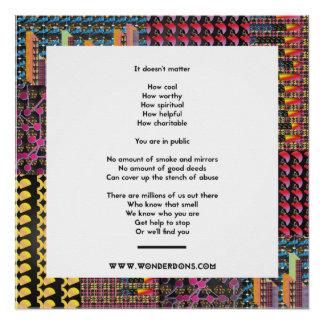 Plakat-Sprichwort, das Sie nicht euch verstecken Poster