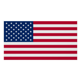 Plakat USA-Flagge USA US Flagge