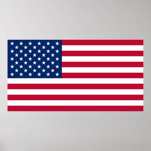 Plakat USA-Flagge USA US Flagge