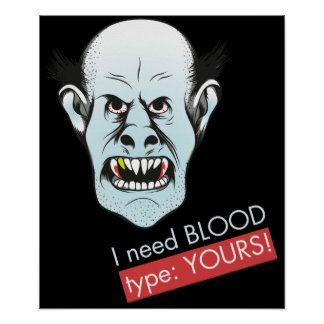 Plakat Vampire I Need Blood