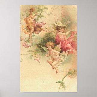 Plakat-Vintage Engel