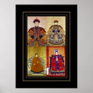 Plakat-Vintage Kunst-chinesische Kaiserin-Collage Poster