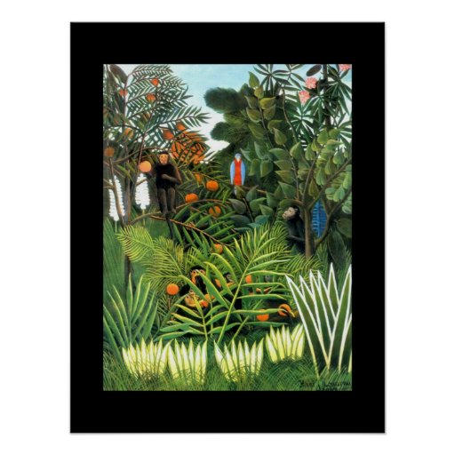 Plakat-Vintage Kunst der Dschungel