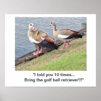 Plakat/Vögel auf Golfplatz