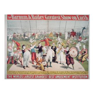 Plakatwerbung das Barnum Postkarte