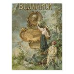 Plakatwerbung das Fahrrad Werke Bismarck Postkarten