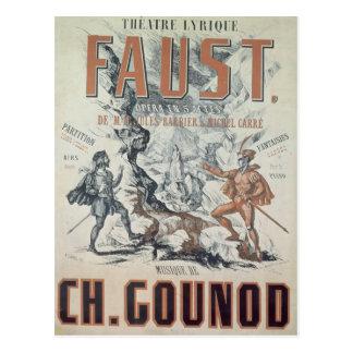 Plakatwerbung 'Faust Postkarte