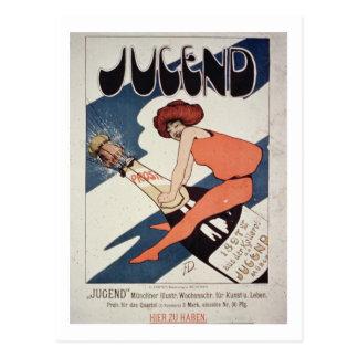 Plakatwerbung 'Jugend, illustriertes wöchentliches Postkarte