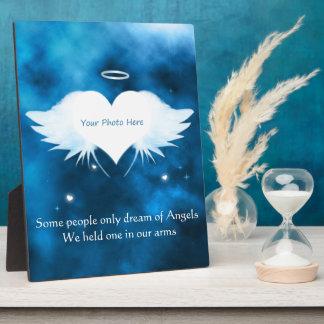 Plakette der Anzeigen-8x10 mit Gestell-Engel des Fotoplatte