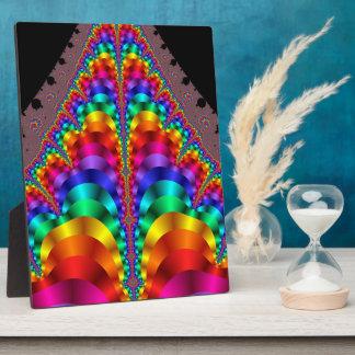 Plakette des Karneval-Regenbogen-Gay Pride-LGBT Fotoplatte