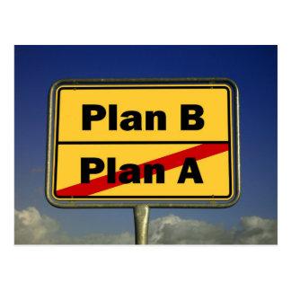 Plan B Postkarte
