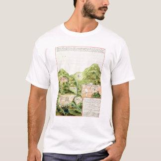 Plan der Bergwerke von Oaxaca, Mexiko, 1785-87 T-Shirt