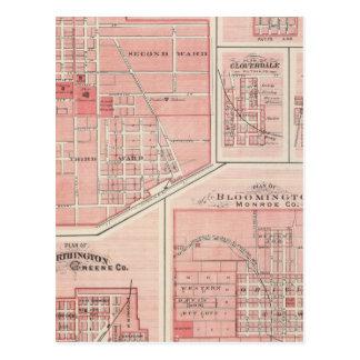 Plan des grünen Schlosses, Putnam Co mit Postkarte