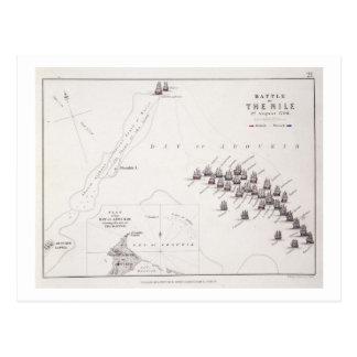 Plan des Kampfes des Nils am 1. August 1798 c Postkarte