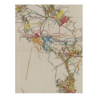 Plan des neuen Almaden Bergwerkes Postkarte