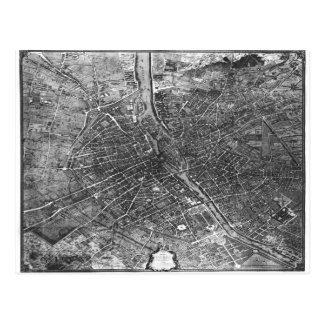 Plan von Paris, bekannt als 'Plan de Turgot' Postkarte